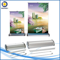 table mini roll up banner stand A3-A4, mini roller screen, roll up stand for advertising