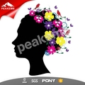Heat Press Decals afro lady Glitter Vinyl Sheet For Printing