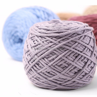 woollen yarn/polyamide cover cotton chunky yarn for hand kniiting storage box/mat in box