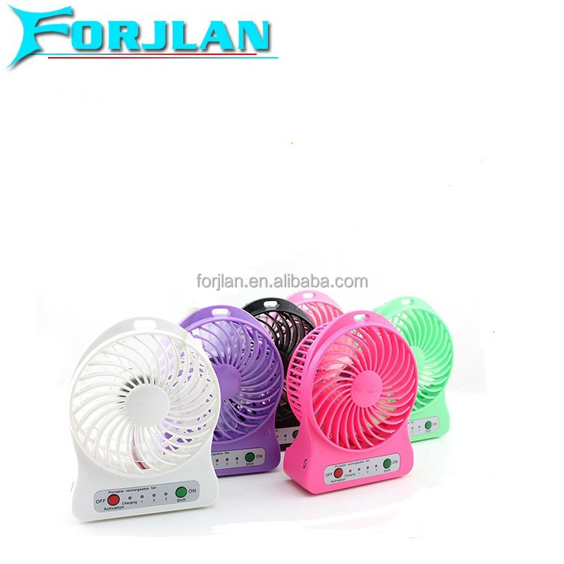 new portable mini rechargeable 18650 large battery powered supply usb fan
