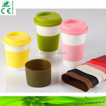 hot sell food grade silicone cup cover and sleeve sets