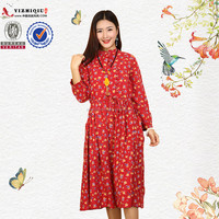 Free sample women summer vintage dress for sale