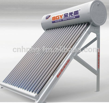 20 tubes stainless steel non pressure solar water heaters, 200L solar geysers, vacuum tube solar energy