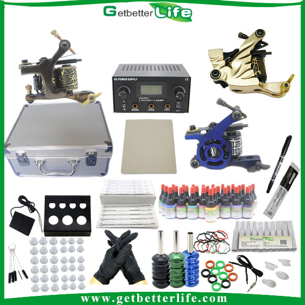 3 Tattoo Guns Tattoo Starter Kit with 28 Colors Ink
