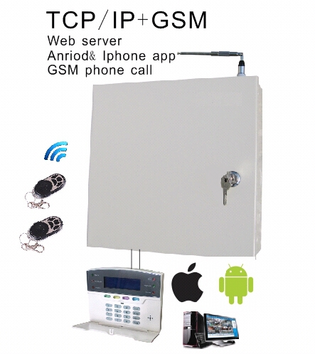 Hot sell! IP/GSM/GPRS Alarm, IE webserver, Andriod, Iphone app. Meian direct supply!