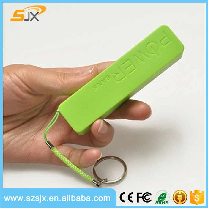 Key ring perfume Power bank 2600mAh 18650 Power Bank powerbank 2600 mah bateria External Backup Battery For iPhone 6s
