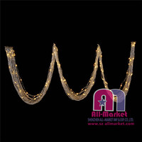 450cm/30 strings decorative crystal bead door curtain with led