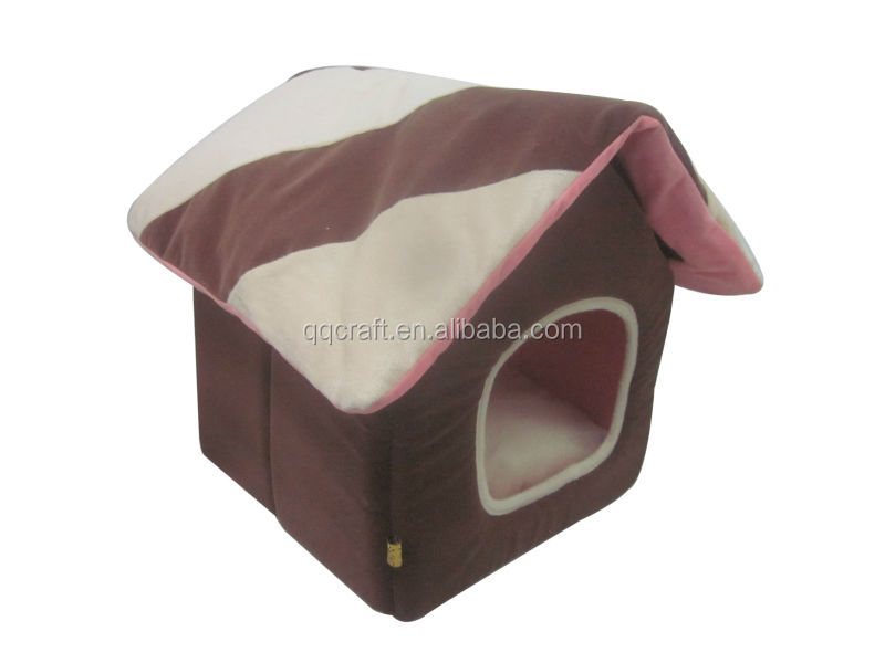 QQPET Cheap house shape dog bed / double dog house
