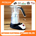 Electric 3-6 cup moka coffee maker Aluminum electric with CE/ROHS/GS/LFGB