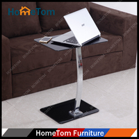 Modern Black Glass Design Desktop Computer Table