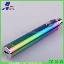 Most popular vacuume coating new evod micro 5pin usb haha battery passthrough mobilephone port haha haha ego vaporizer pen