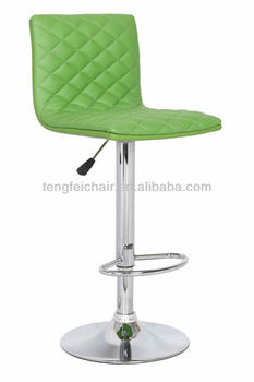 New green PU bar stool with chroming base/ 360 degree and height adjustable/ all color