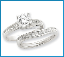 Newest 14k white gold high polished AA diamond diamonds rings price