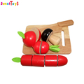 Popular wooden cutting fruit toys set,Education wooden fruit cutting toys for kids,Funny DIY kitchen set toys
