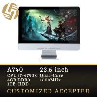 23.6'' IPS LCD Panel Gaming Computer All in One PC Case