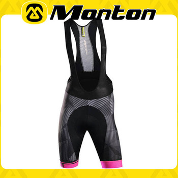 2016 Spring apparel Monton lycra cycling bib short with thin and breathable