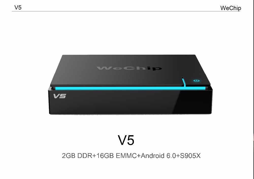 Wechip High configuration version 2G/16G Wechip V5 X96 android 6.0 amlogic S905X codi 16.1 smart tv box