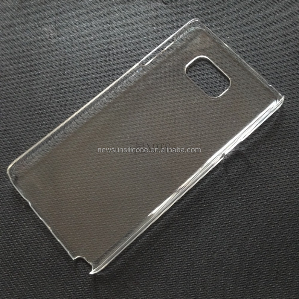 transparent pc material phone case for note5