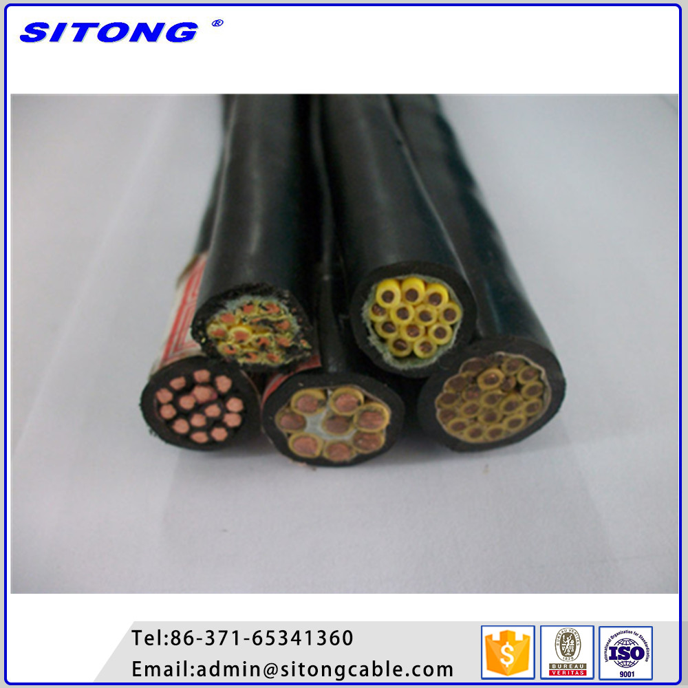 Copper core conductor pvc coated wire multi core control cable