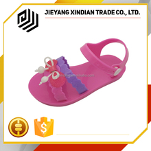 Summer Cute Cartoon Girls Jelly PVC Flat beautiful kids shoes sandals