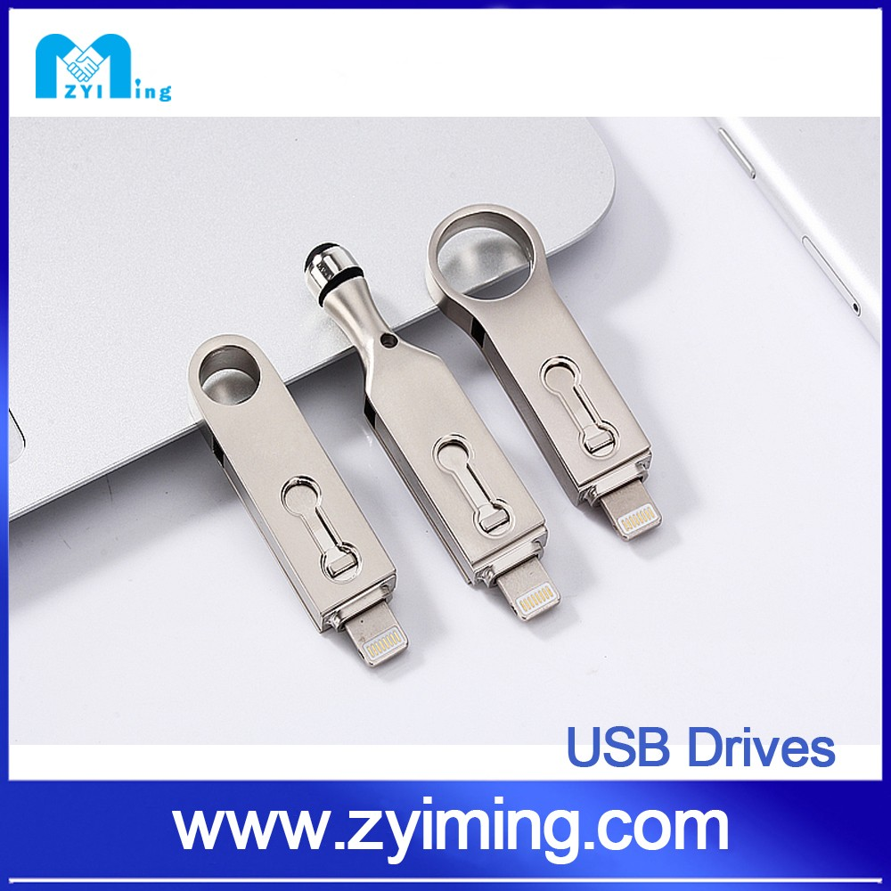 Zyiming wholesale flash drive usb 8gb 32gb 64gb 128gb 1tb mini usb flash drive for IPhone 6 plus and Ipad