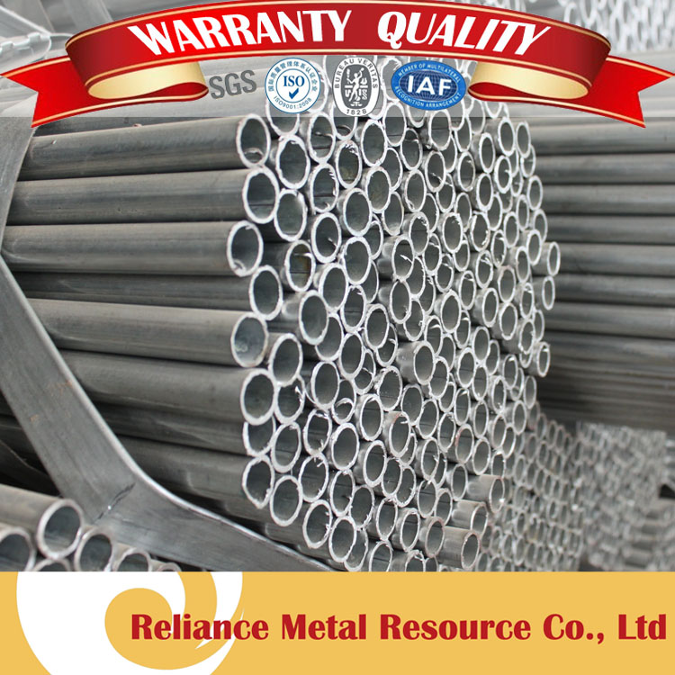 SMALL BORE PRE ZINC COATED ROUND RECYCLED STEEL PIPE