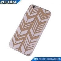 New arrival flashing TPU laser phone case for changeable pattern