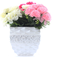 9 heads cheap silk flower bushes artificial carnation flowers Multicolor
