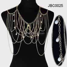 Fancy cheap hot selling fashion shoulder body chain