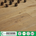 2017 Top Sale Solid Oak 125mm width Brushed Stained wood flooring