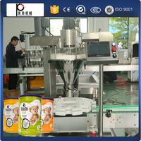 Shanghai manufacture high quality full automatic tin can milk powder filling packing machine