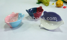 animal shape ceramic color changing bowl