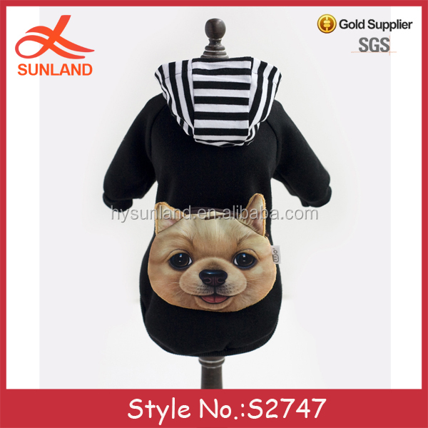S2747 new wholesale pet apparel warm hoodies winter dog coats with pockets