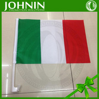China flag factory directly sales NO MOQ OEM customized polyestr material strong plastic pole italy car side window flag