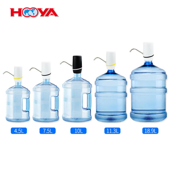 USB charging bottle plastic electric portable drinking water pump dispenser