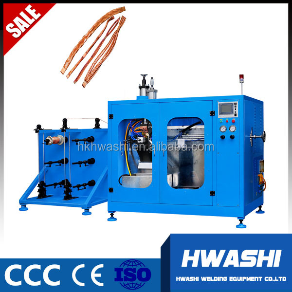 Hwashi Automatic Braided Copper Wire Welding and Cutting Machine