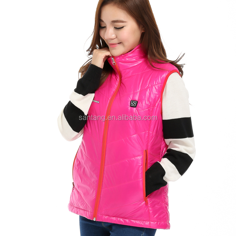 CE Certified 7.4V 2200mAh Lithium Polymer Battery Operated Far-infrared Ladies Stand Collar Heated Vest