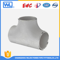 Stainless Steel and Carbon Steel Buttweld Pipe Fittings Tee