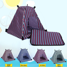 Pet outdoor& inside polyester washable tent bed portable pet tents & houses