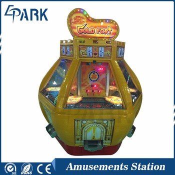 Luxury appearance pushed coin hids puzzle game machine golden fort