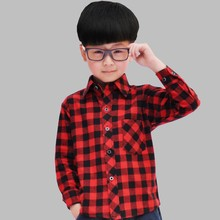 garment supplier custom kids clothes girls/boys flannel check shirt boys dress designing