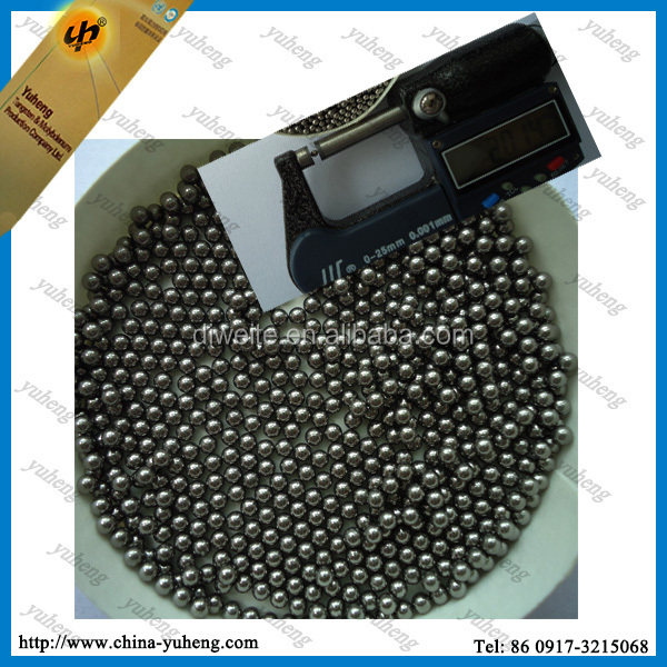 95%W size 3mm tungsten pellet