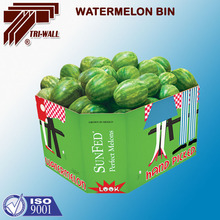Fruit Vegetable Watermelon Packing Box Corrugated Paper watermelon bin Box