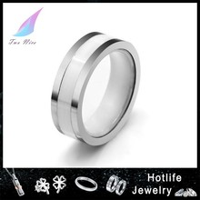 2015 hot sale mens stainless steel with ceramic movable ring