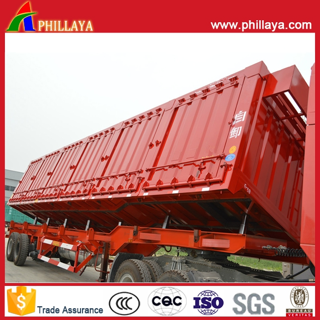 Cargo box 3 axle hydraulic cylinder dump truck trailers (volume and platform optional)