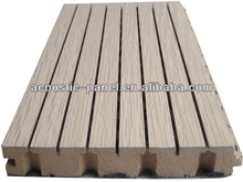 grooved wooden acoustic panel for sound proof room
