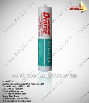 RTV silicone sealant cartridge packing, waterproof sealant