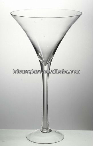mouth blown high quality martini glass