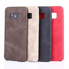 Hot Wholesale PU Mobile Phone Back Cover Leather Case For Samsung Galaxy S8 S8 Plus