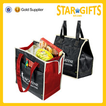 high quality promotional non woven insulated thermal food carry bag